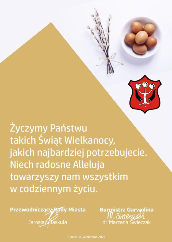 Życzymy Państwu takich Świąt Wielkanocnych, jakich najbardziej potrzebujecie. Niech radosne Alleluja towarzyszy nam wszystkim w codzinnym życiu.